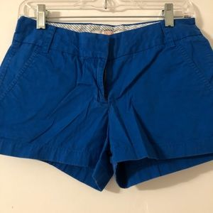 J Crew chino short size 0 blue